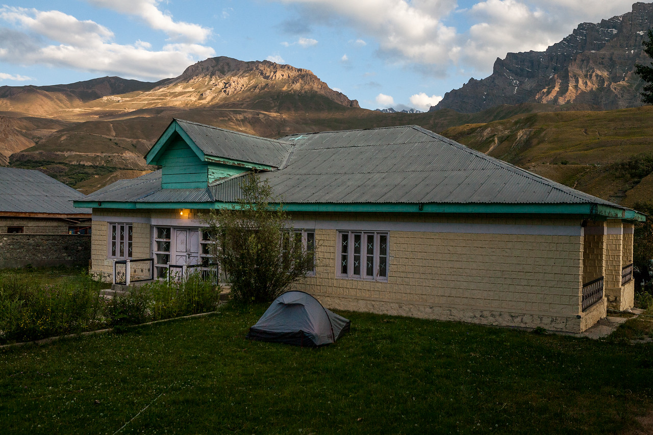 Tourist accommodation at Dras, Kargil, India