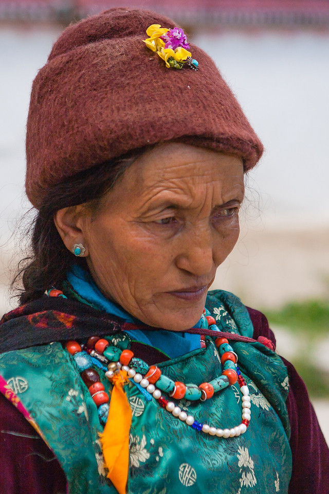 A member of Women's Alliance group in Sani, Zanskar , India
