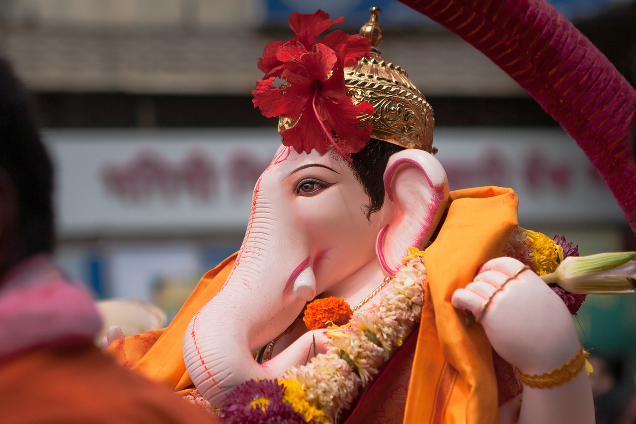Kasba Ganpati at Ganesh festival in Pune, India