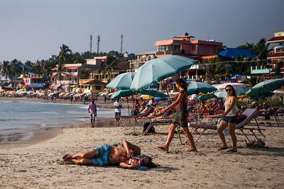 Relaxing At The Kovalam Beach Kerala India