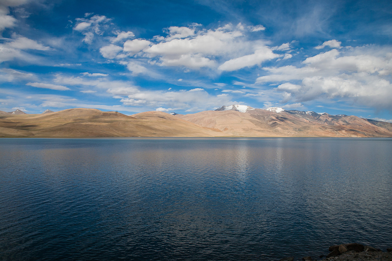 Tso Moriri, mountain lake in Ladakh, India