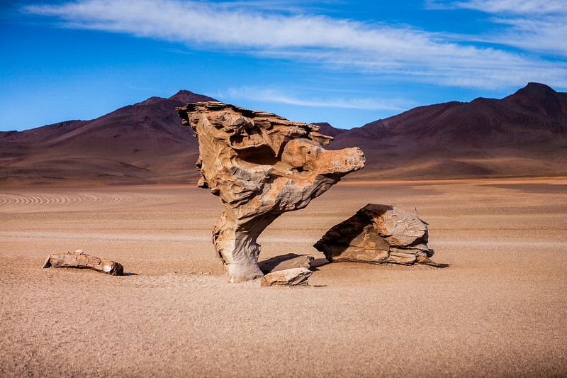 Rock formations in the desert, Bolivia