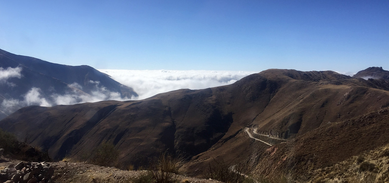 Landscapes from northwest Argentina on the Salta to Cachi route