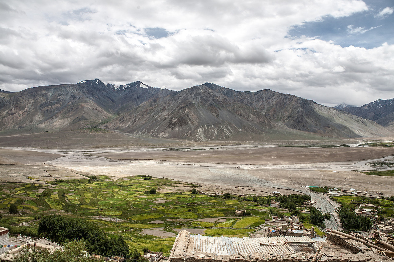 View from the Karsha monastery in Zanskar, India
