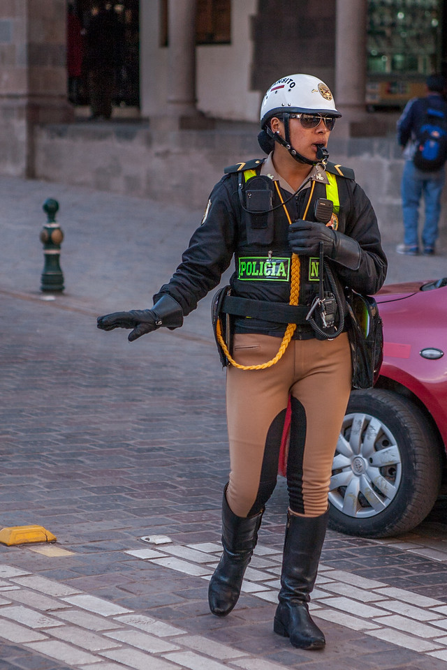 Traffic police of Cusco, Peru