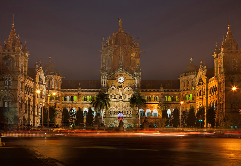 Symbolic to the city of Mumbai, the Chatrapati Shivaji Terminus (CST), India