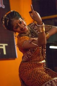 Folk dances like Lavani are arranged on the occasion of Dahi Handi, the festival of Janmashtami, a celebration of Lord Krishna's birthday in Mumbai, India.