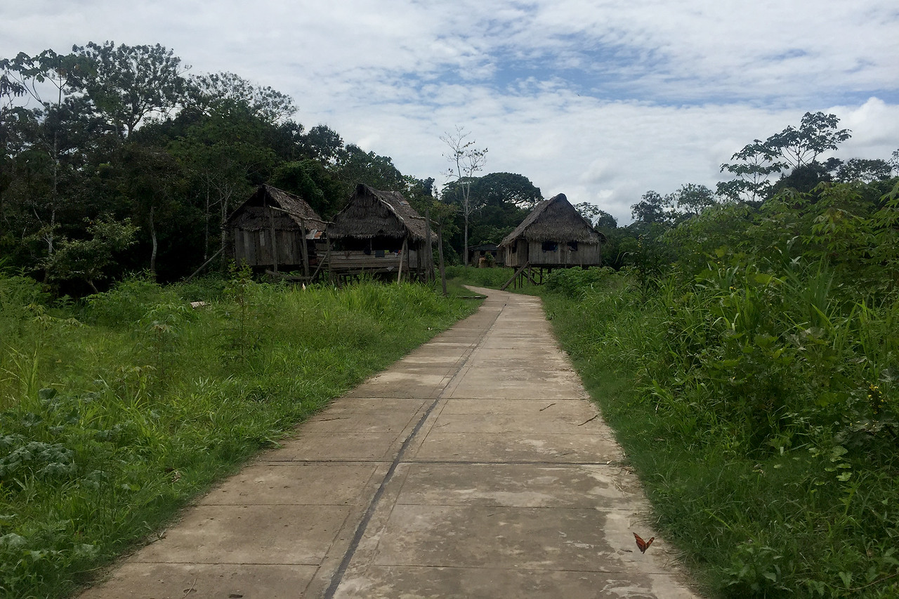One of the villages in Amazon, Peru