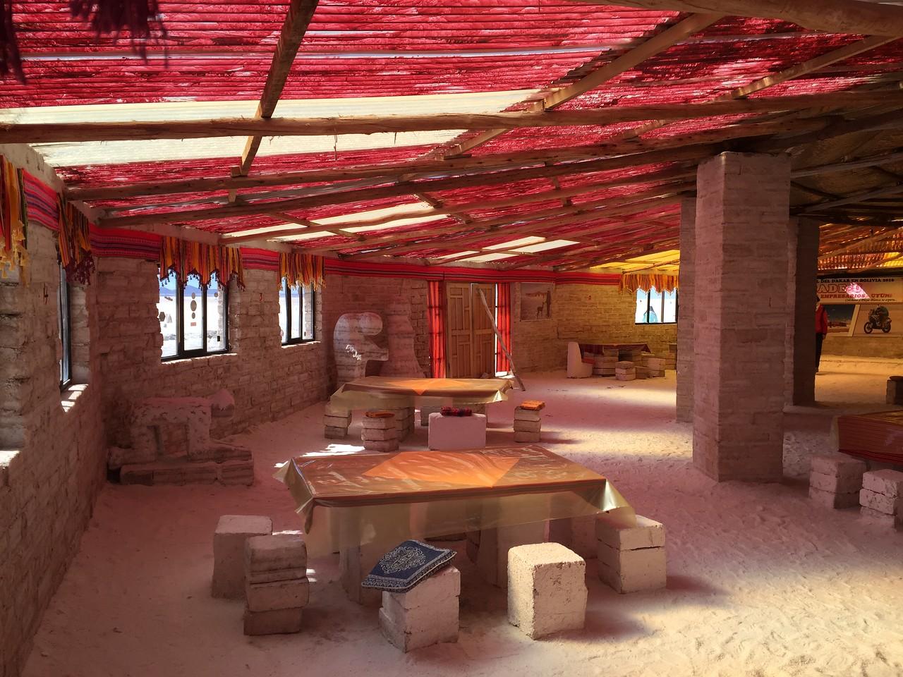 Hotel made out of salt at Salar de Uyuni, Boivia