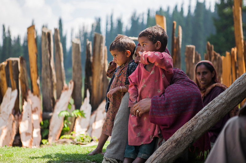 Kids enjoying their summer holidays in Kashmir