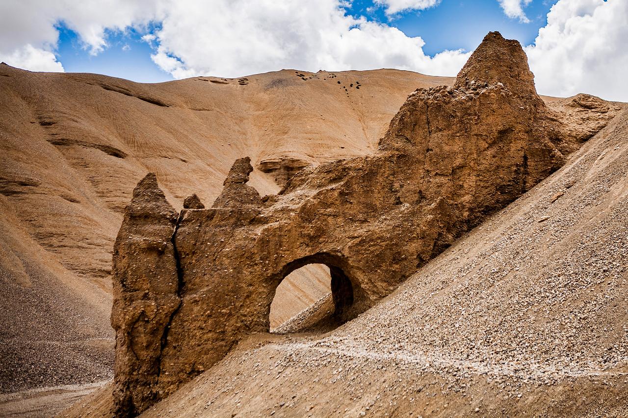 A natural tunnel near Lachung la