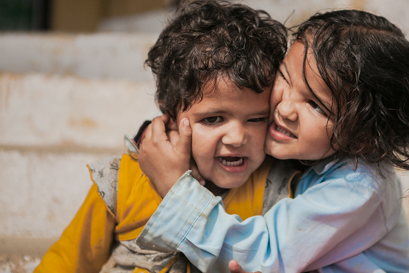 Love hate relationship between siblings, Uttarakhand, India