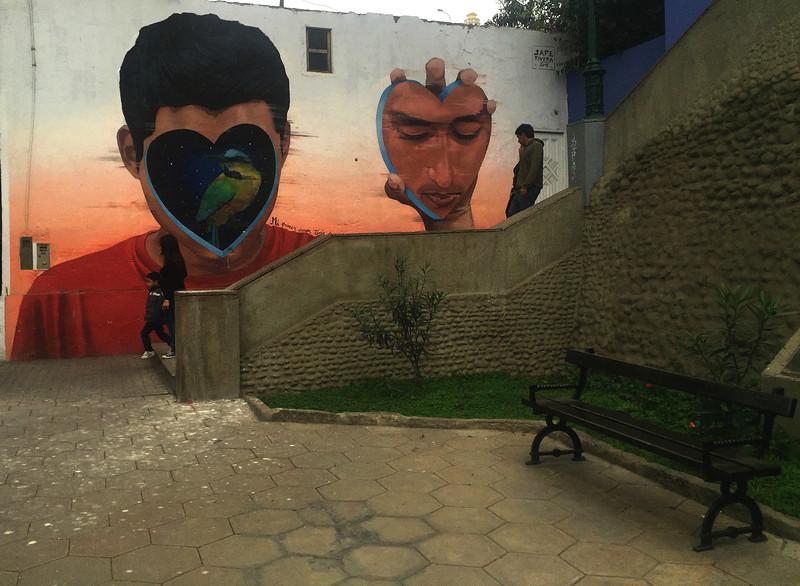 Street art in the Barranco neighbourhood of Lima, Peru