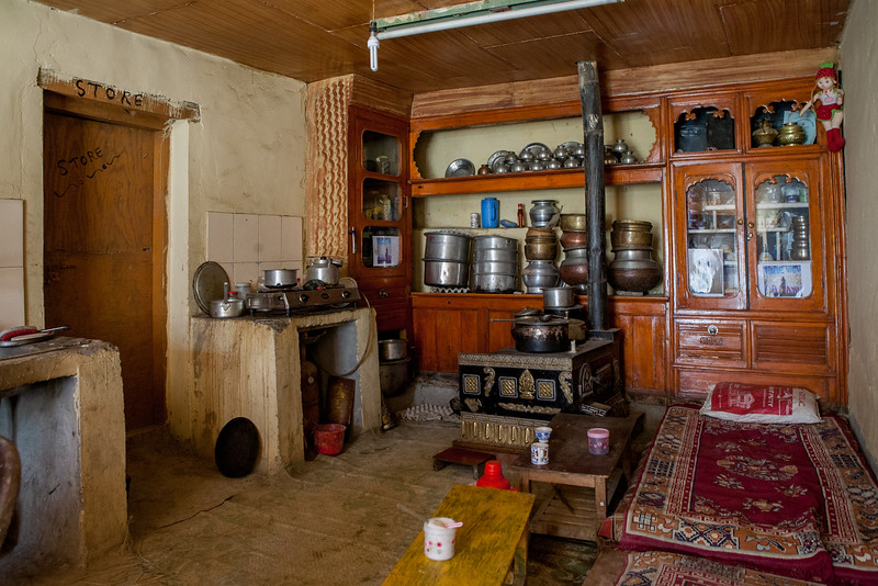The kitchen at our homestay in Lamayuru, Ladakh, India