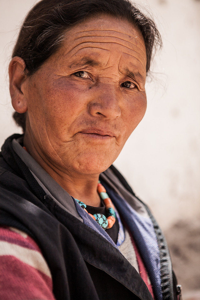 Woman weaver from Ladakh, India