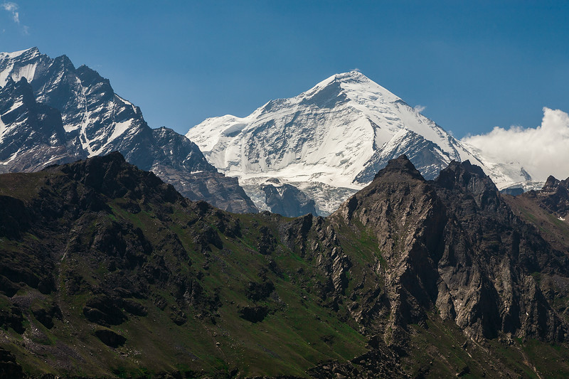 The peaks on Nun Kun seen from Parkachik la, India