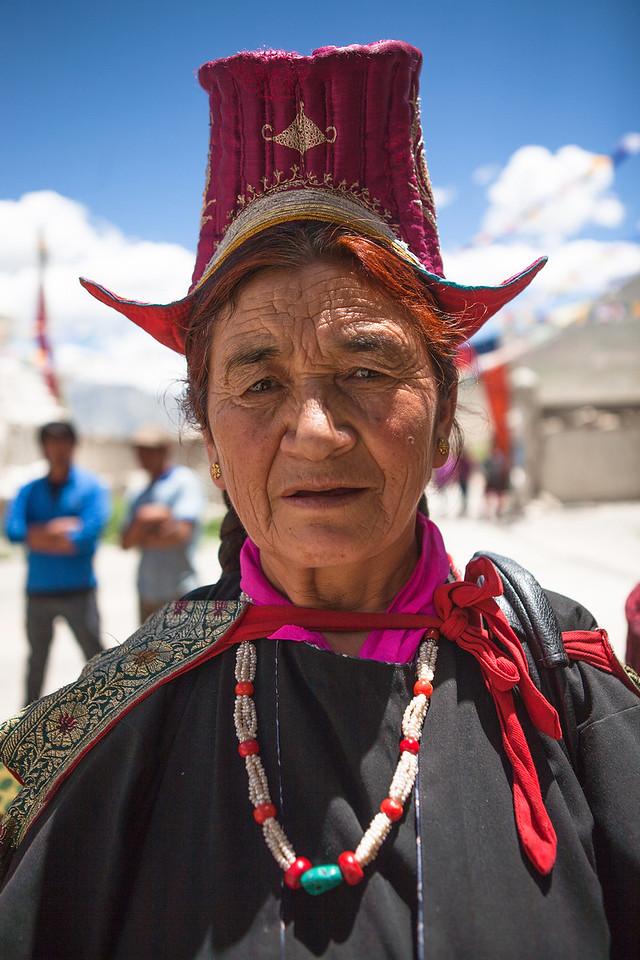 A member of Women's Alliance group in Sani, Zanskar , India