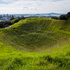 The crater at Mt Eden, the highest point of Auckland, New Zealand