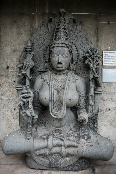 Godess Padmavati Medieval period sculpture in stone. Chandigarh, India