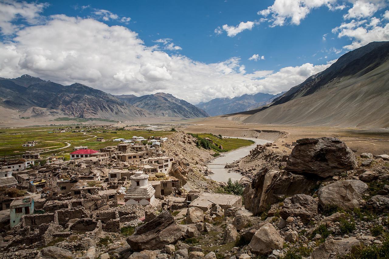 View from a hillock in Padum, Zanskar, India