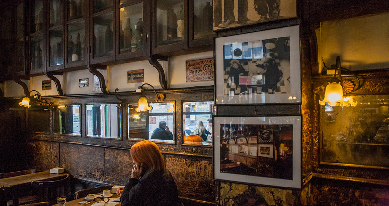 Inside the old San Telmo Cafe, Buenos Aires, Argentina