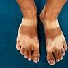 A cyclist's feet