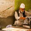 A tailor in the market of Anantnag, Kashmir