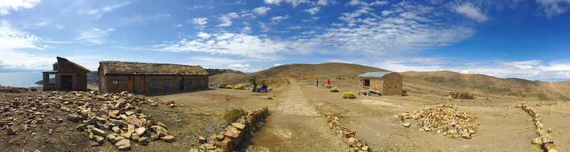 Hostel in a middle of nowhere at Isla del Sol, Bolivia