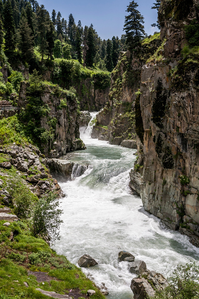 The Aharbal waterfalls, Kashmir