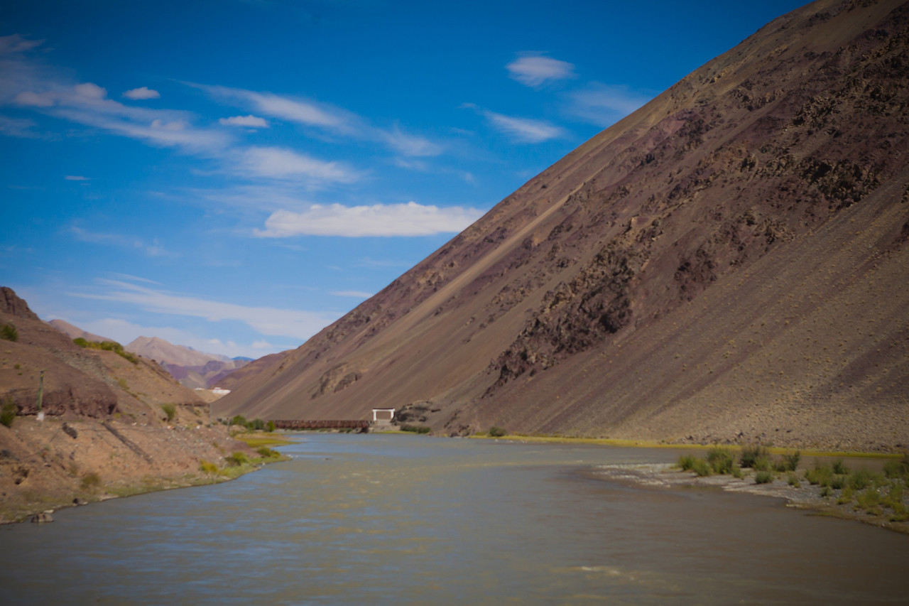 Landscapes en route Tso Moriri, Ladakh, India