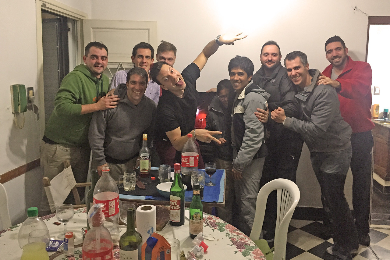 "Celebrating ""Freiendship Day"" with our Couchsurfing host and his friends in Rosario, Argentina"