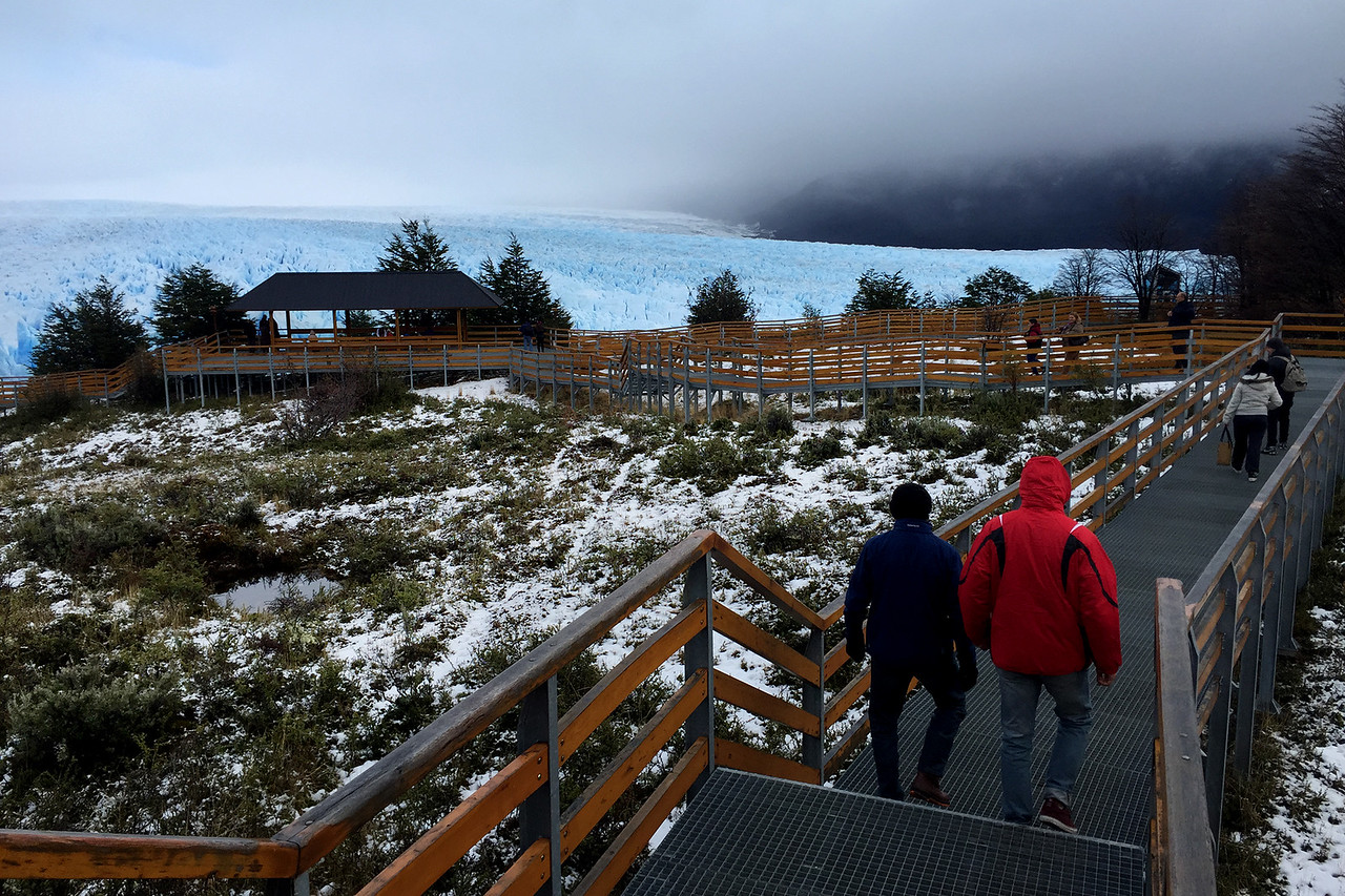 The ramp to the northern side of the Perito Moreno glacier, Patagonia, Argentina