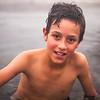 Boy at hot springs at Cachueta near Mendoza, Argentina