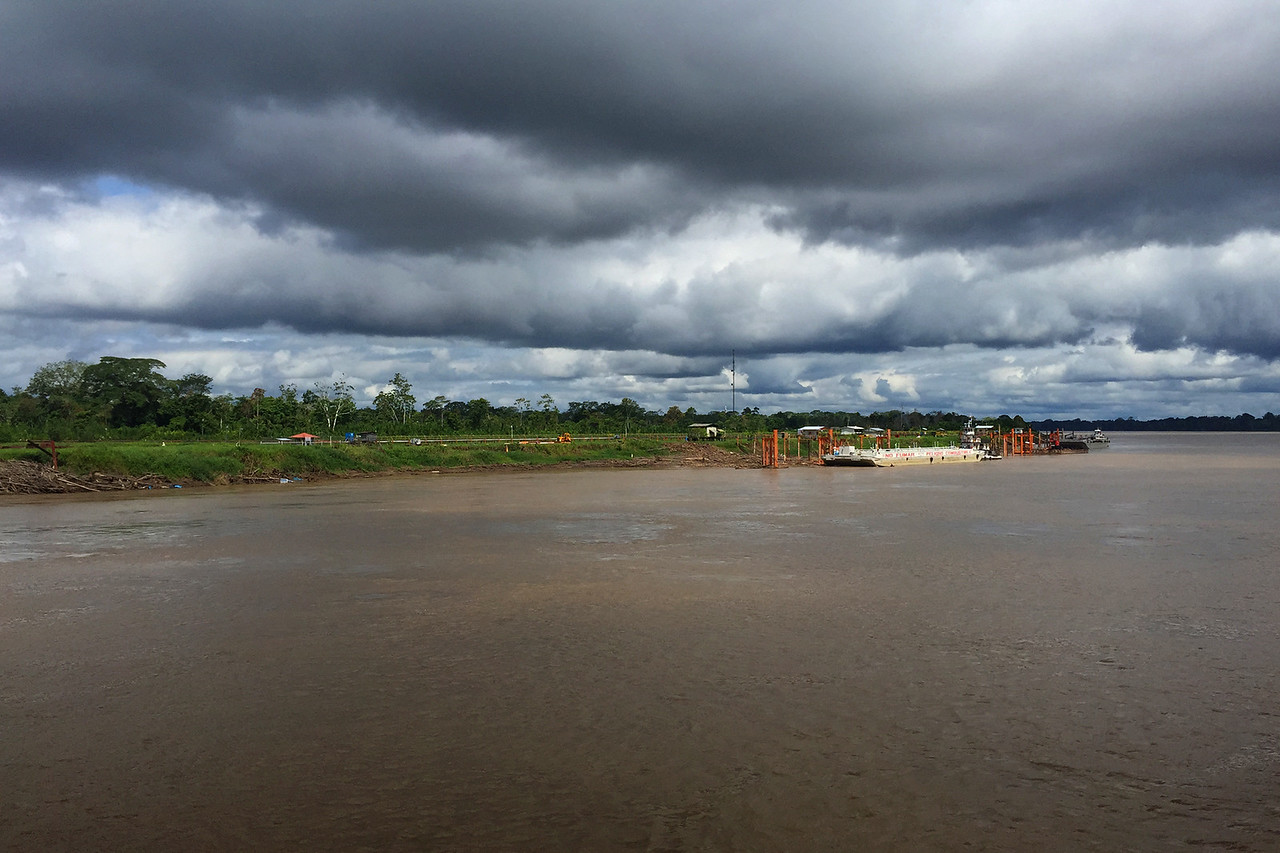 Clouds start to appear over the Aamazon, Peru