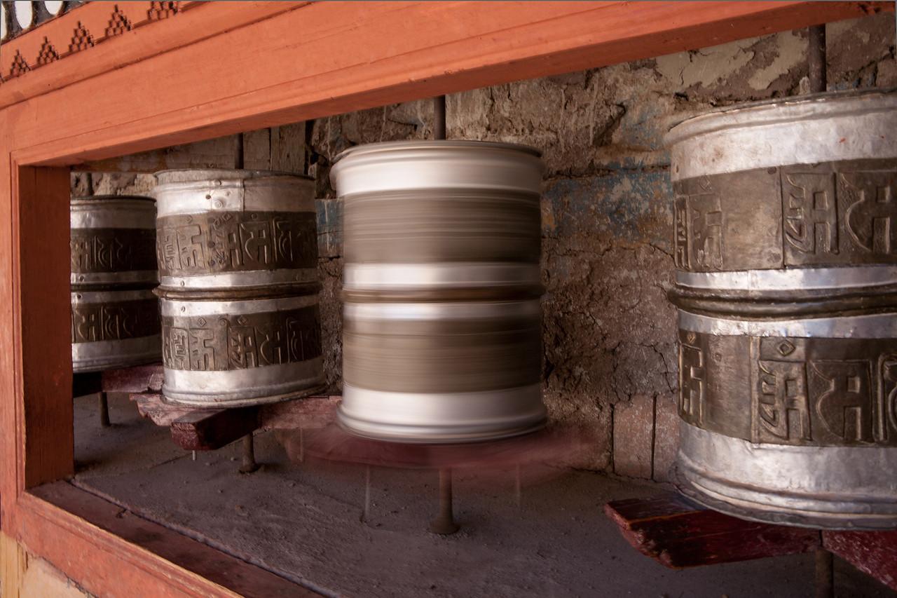 Prayer Wheels Hemis Monastery, Ladakh, India