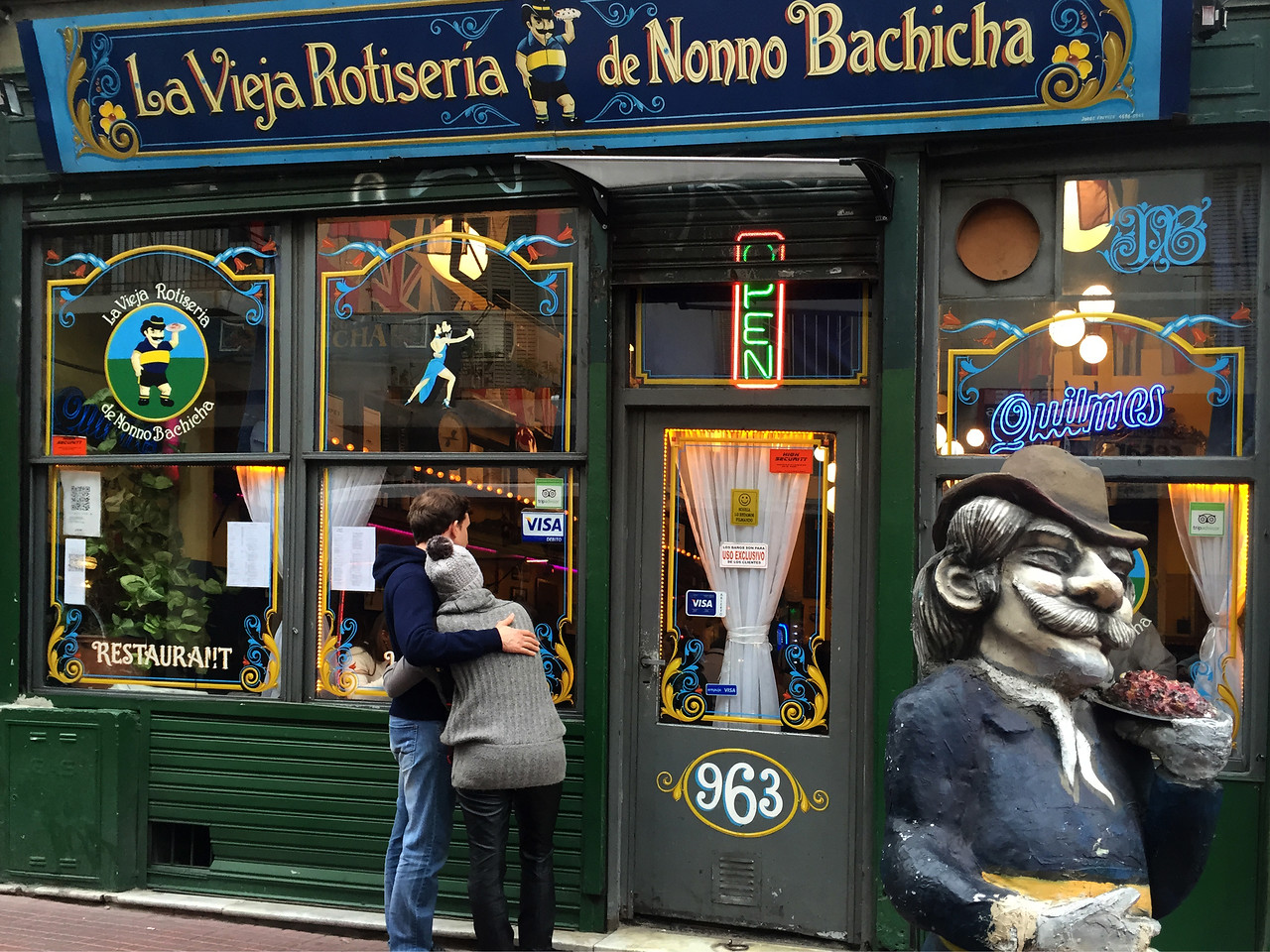 Cafes in San Telmo, the oldest neighbourhood of Buenos Aires, Argentina