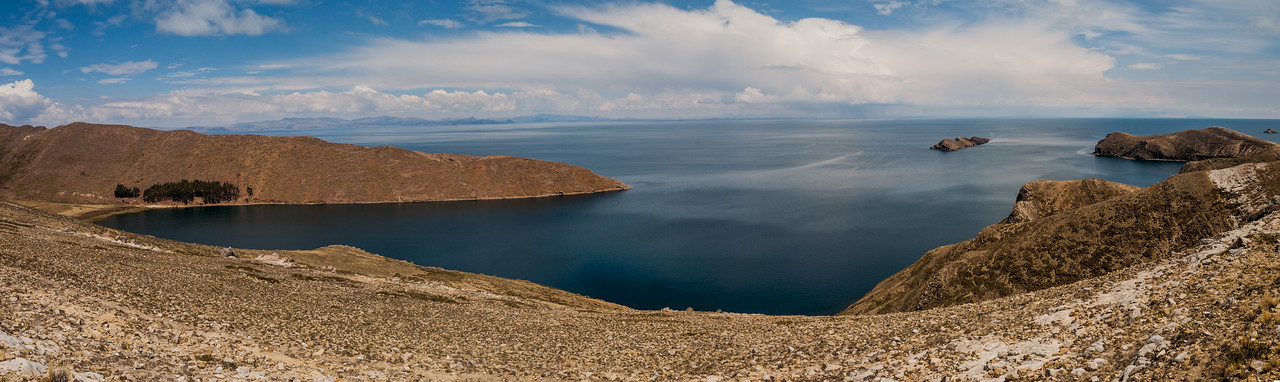 Views along the walk from South to North on Isla del Sol, Bolivia