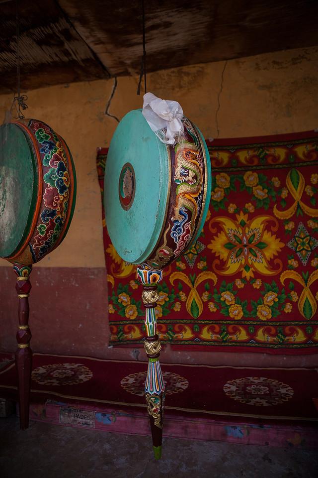 Inside Sani Monastery in Zanskar, India