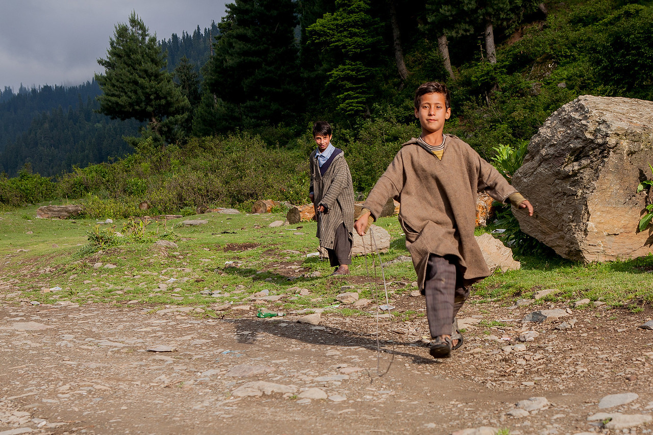 Boys playing in Chatpal, Kashmir, India