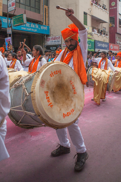 'Dhol' adds rhythm to the Ganesh festival in Pune, India