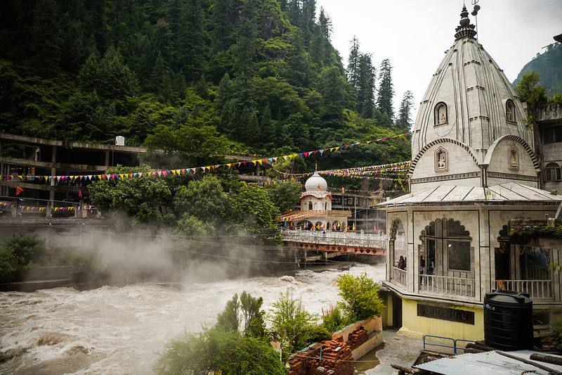 Hot springs at Manikaran, Himachal Pradesh, India