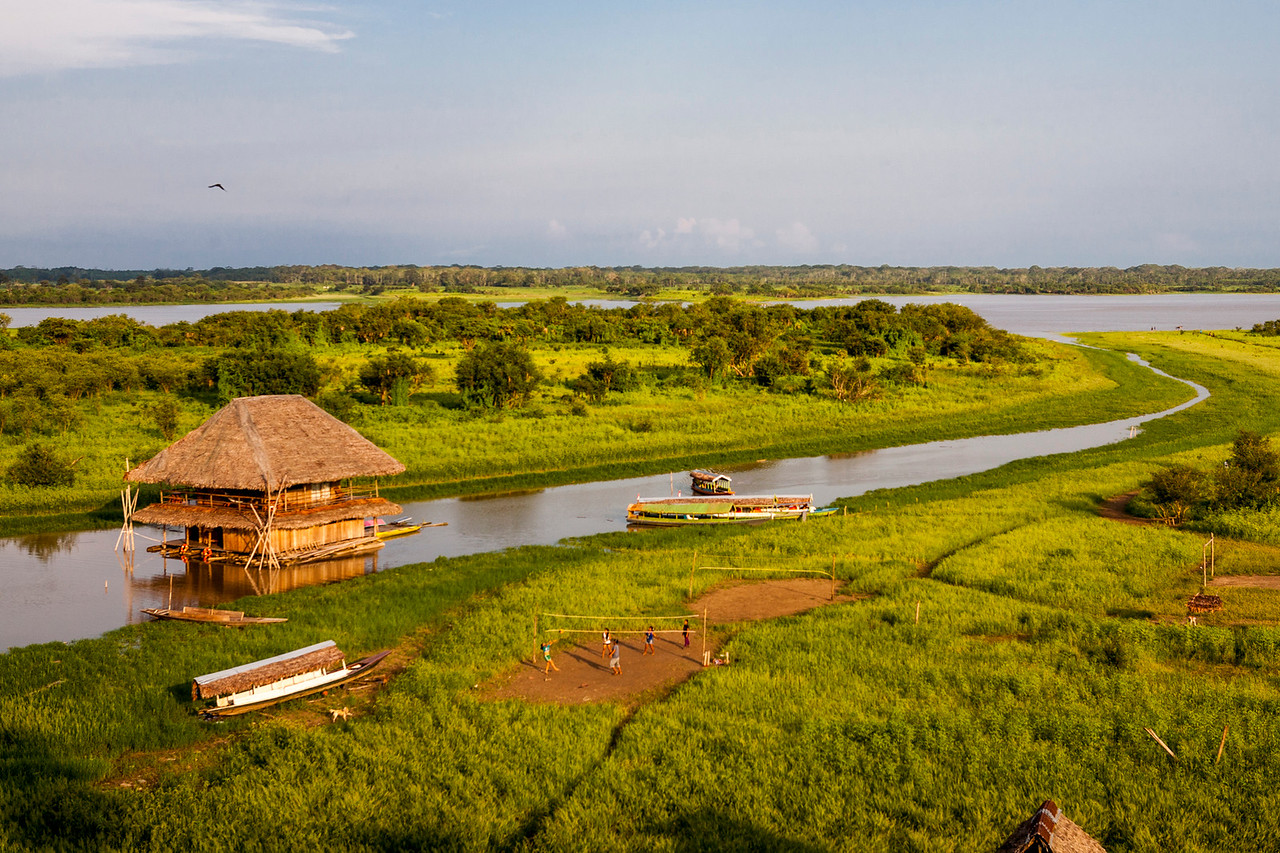 Iquitos, the main city of the Amazon rain forest in Peru