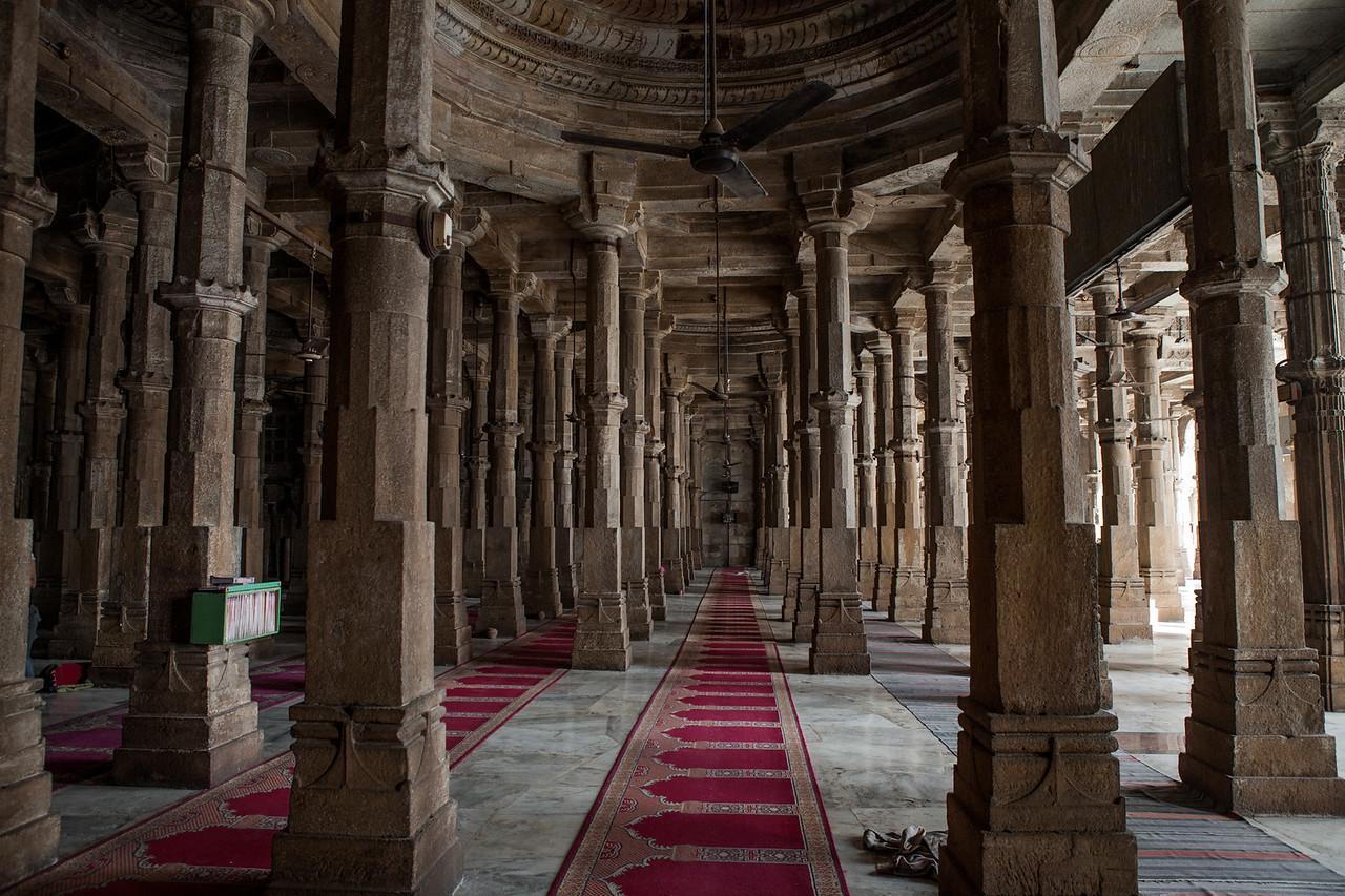 Jami Masjid at the end of the heritage walk of Ahmedabad, Gujarat