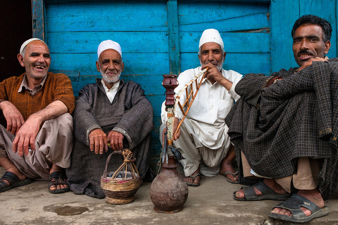 Hangout place next to butcher shop, Kashmir, India