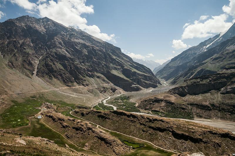 View of Suru valley from a vantage point in Parkachik