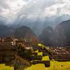 Houses and farming terraces at Machu Picchu, Peru