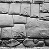 Twelve cornered stone, part of the original Incan wall, Cusco, Peru