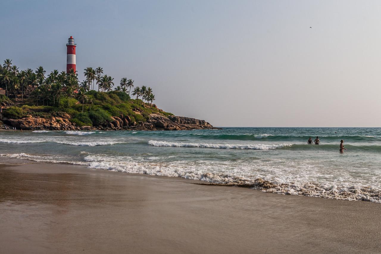Vizhinjam Light House  and Kovalam beach,  Kerala, India