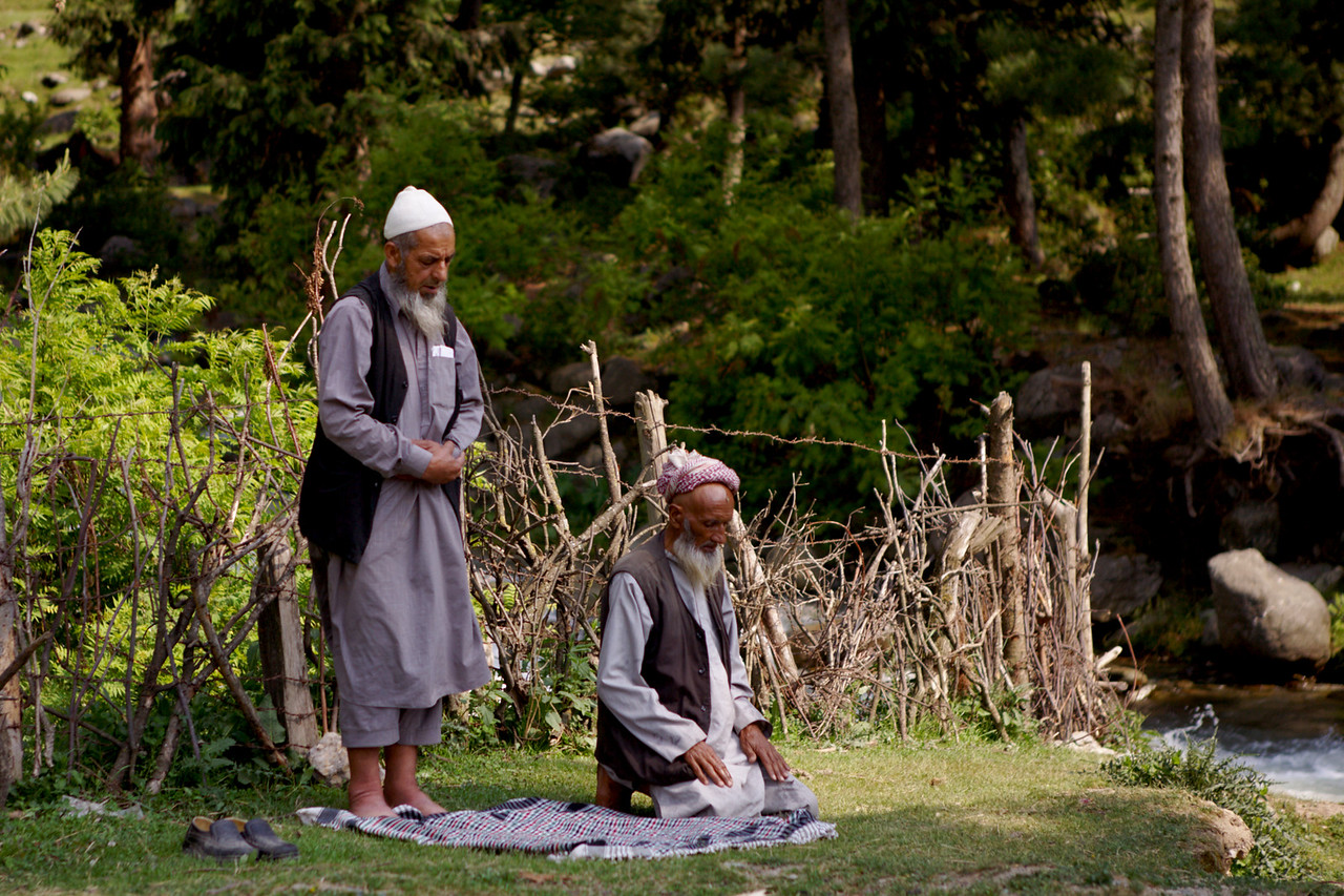 Namaz time at Rajpari Wildlife Sanctuary, Kashmir