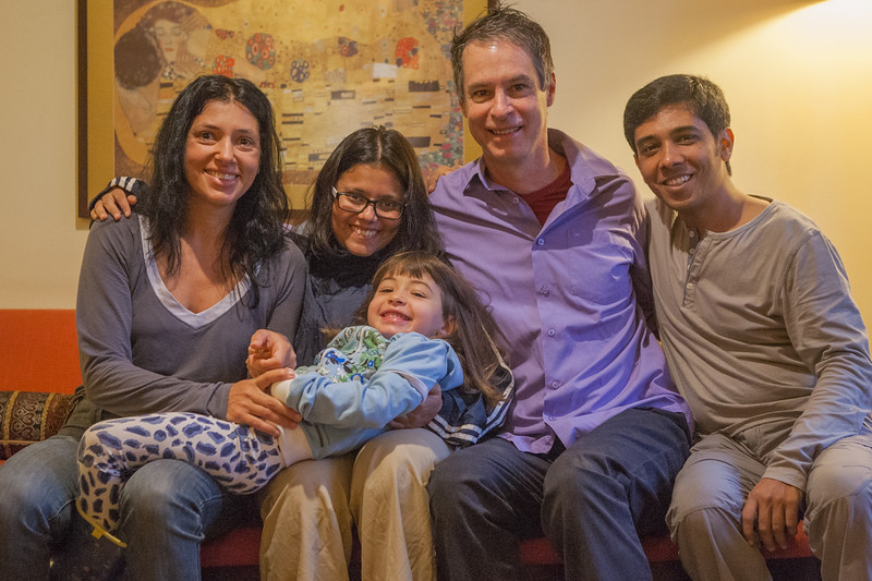 With Steve, Patricia and Luana at their home, Sao Paulo, Brazil